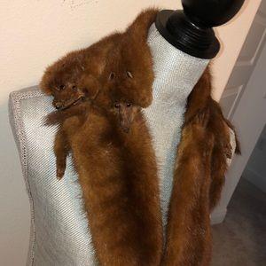 Accessories - 1940s vintage mink scarf